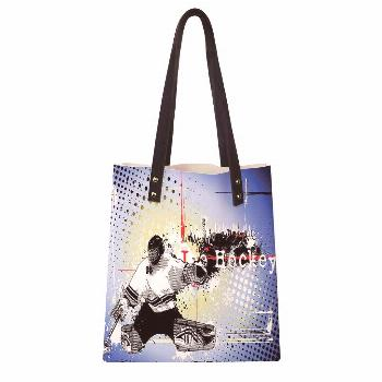 Women's Soft PU leather Tote Shoulder Bag,Retro Halftone Style Backdrop with Player Figure Snowflak
