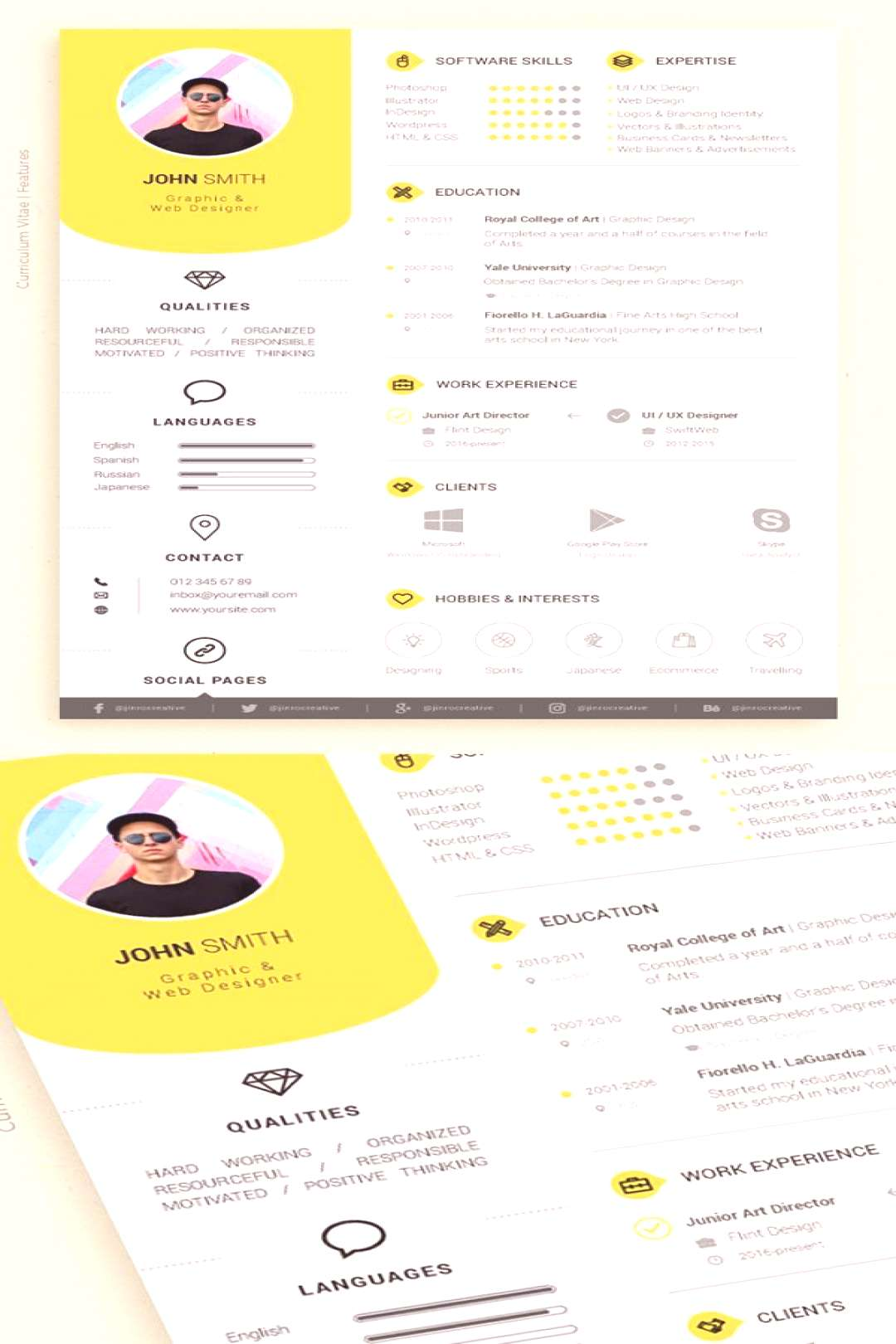 50 Free Resume Templates: Best Of 2018 -  33. resume template for word, resume idea, pretty resume,