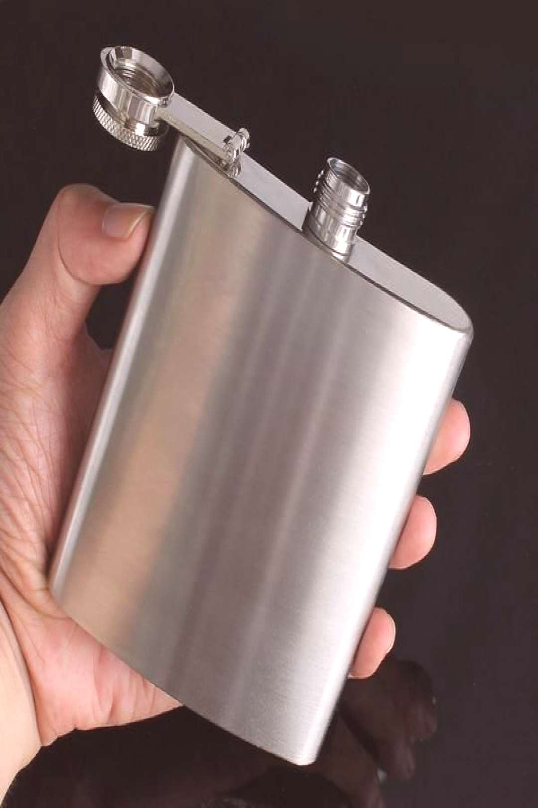 7oz Stainless Liquor flagon Retro Rum Whiskey Alcohol Pocket Flask with Funnel - -