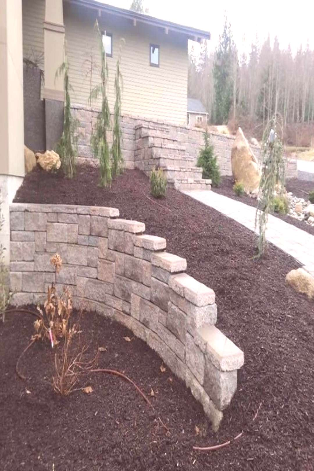 A retaining wall can give your property incredible functionality and ... - garden -  A retaining wa