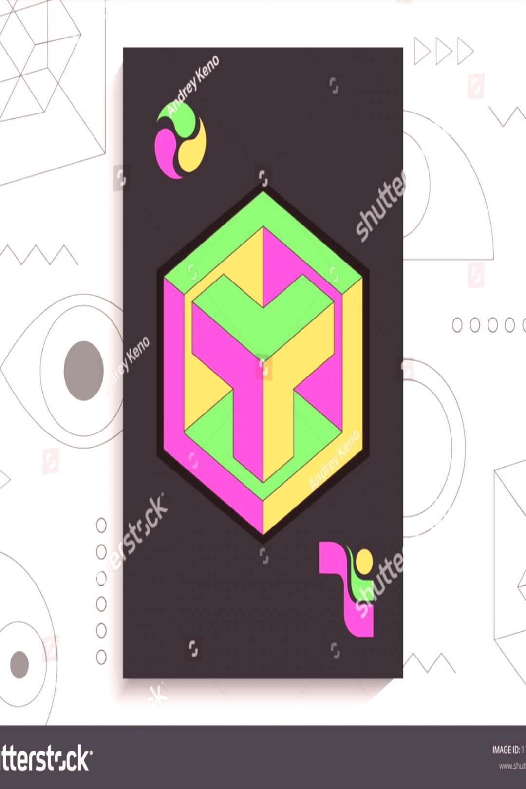 Abstract geometric poster. Geometric shapes, bright colors, elements Abstract geometric poster. Geo