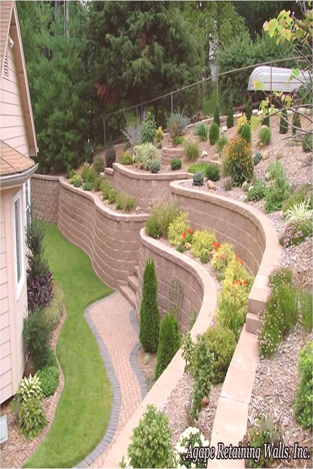 Agape Retaining Walls Inc Terrace Album 2 Agape Retaining Walls Inc Terrace Album 2 Nice 65 Garden