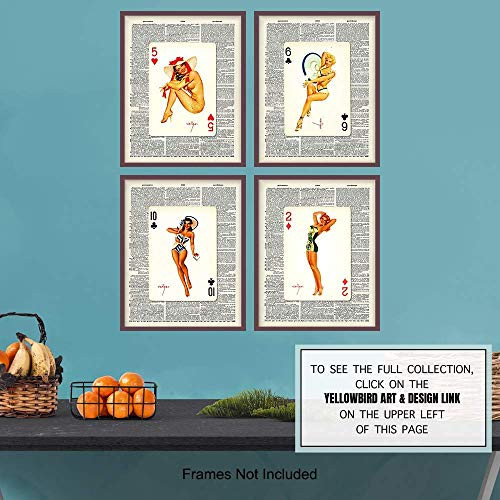 Beach House Pinup Dictionary Art Print - Vintage Upcycled