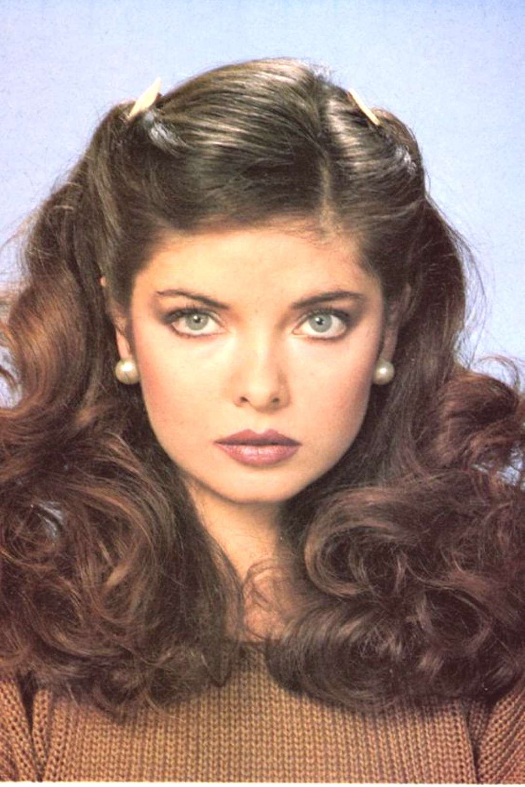 Beauty Curly Hairstyles | 1970s 1980s Big hair head hair Face Eyebrow | hair hair coloring in the 1
