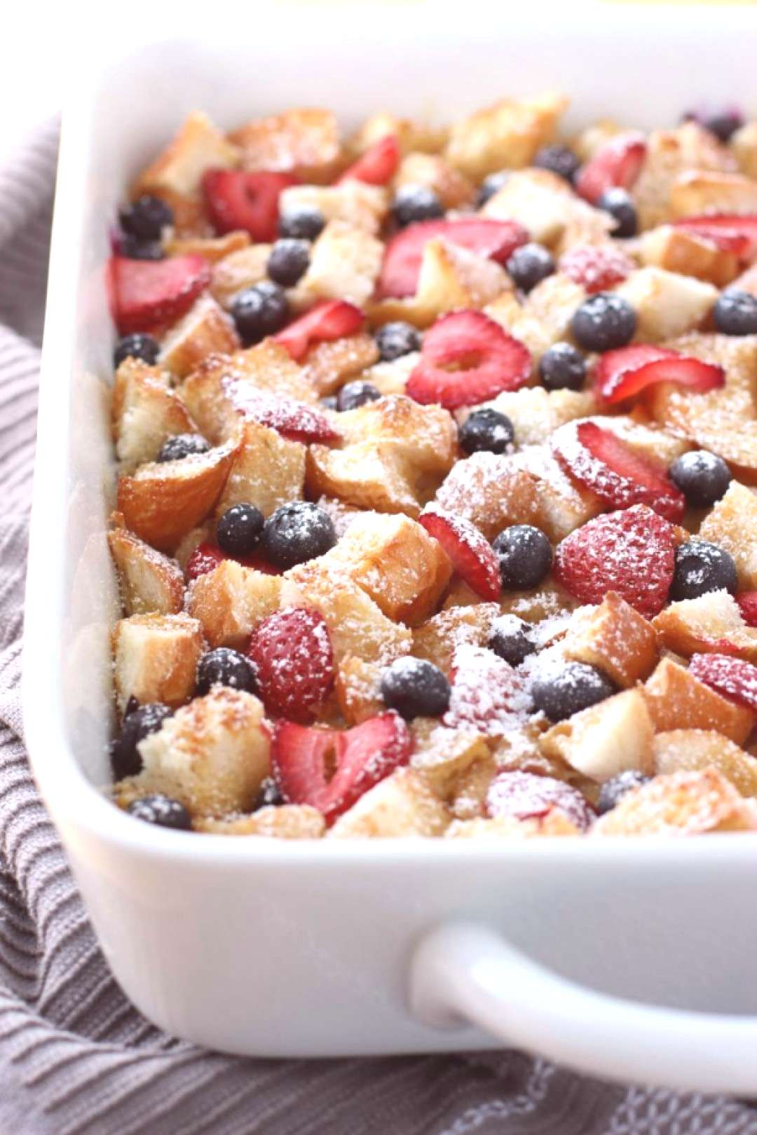 Berry French Toast Casserole - Moist on the inside slightly crusty on the top this Berry French Toa