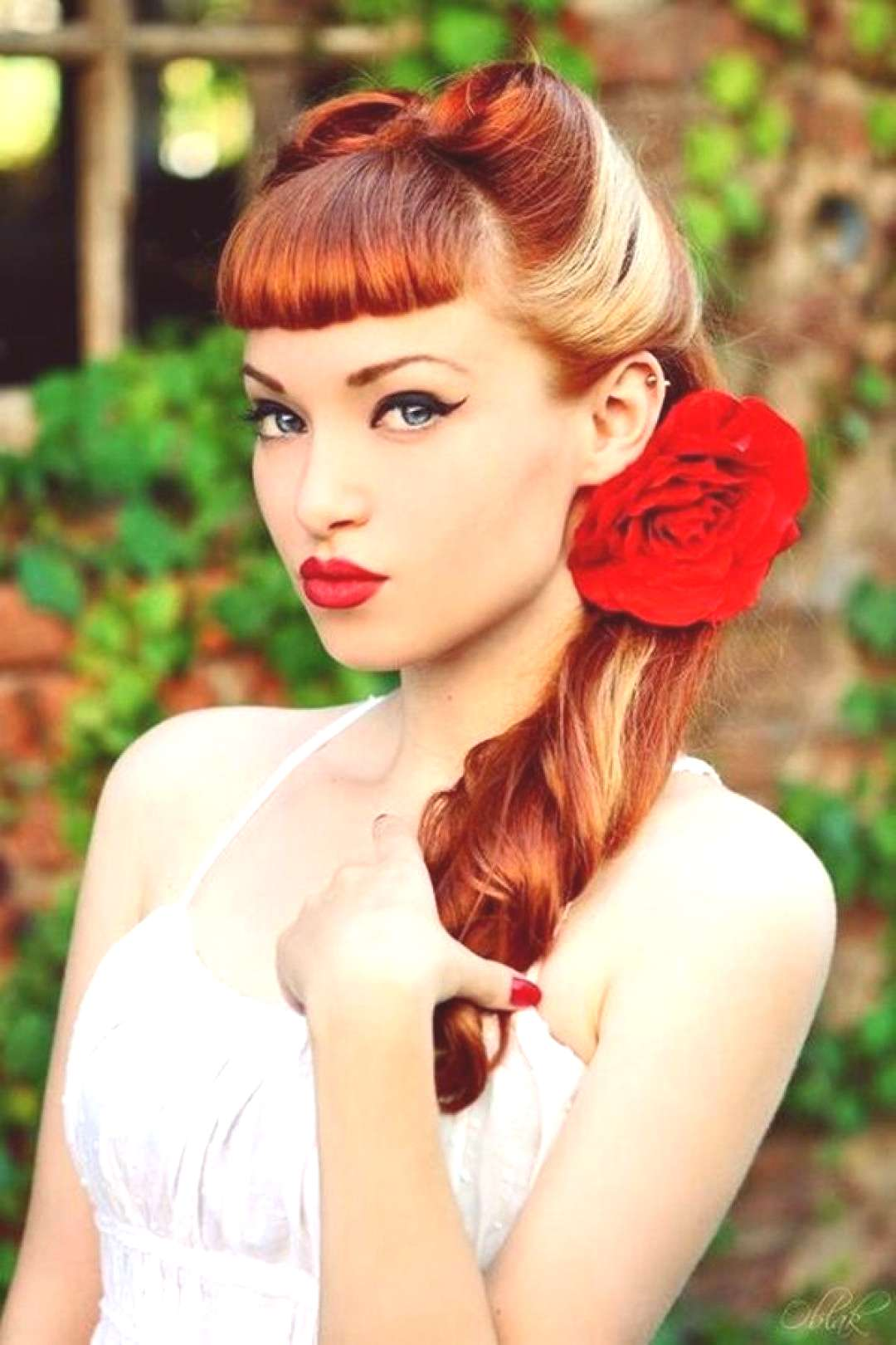 Best Burgundy Hair Dye Set -  Go retro in this romantic look perfect for Valentine's day! -