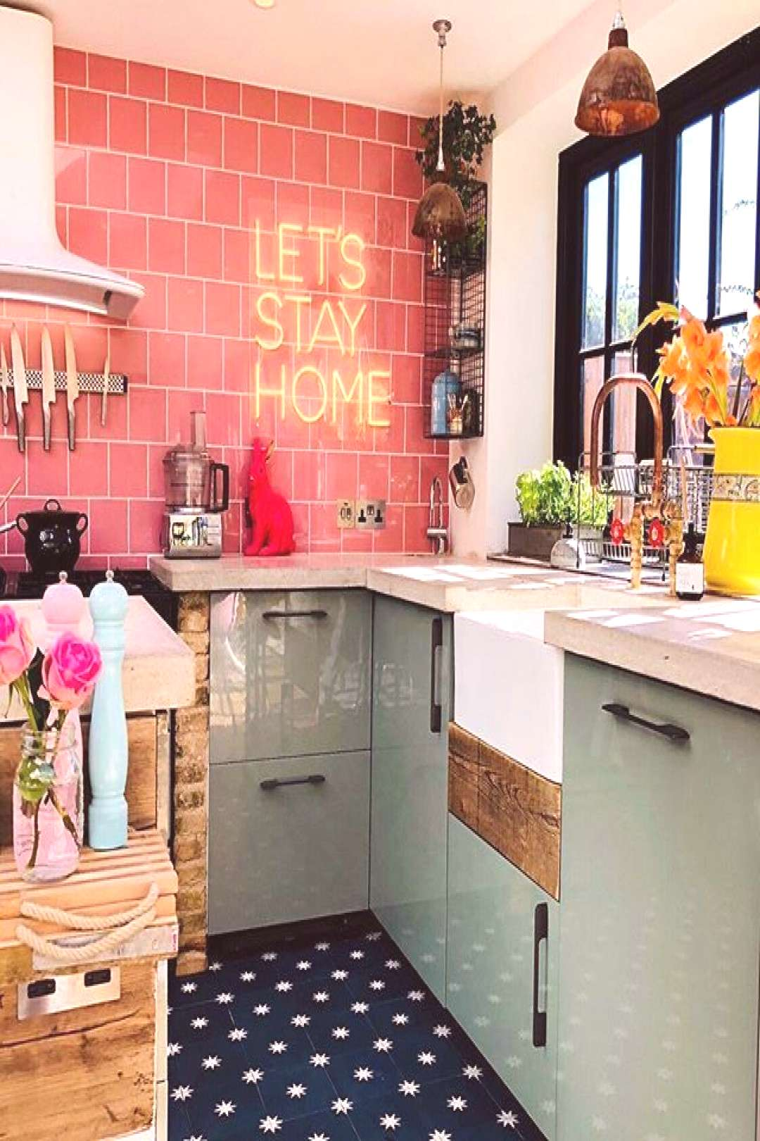 Boho Home Decor Let's Stay Home - love this kitchen by (@kasie_barton) Boho Home Decor