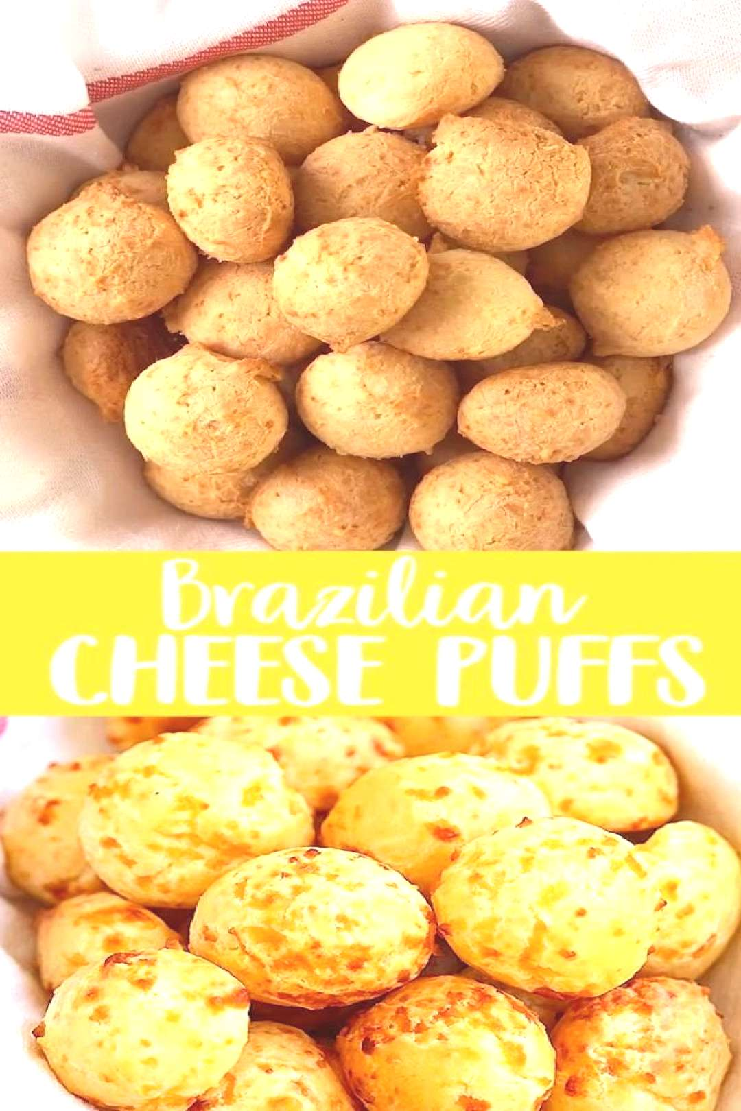 Cheese Puffs - fully loaded Pão de Queijo with Parmesan cheese. These cheese puffs are addictive a