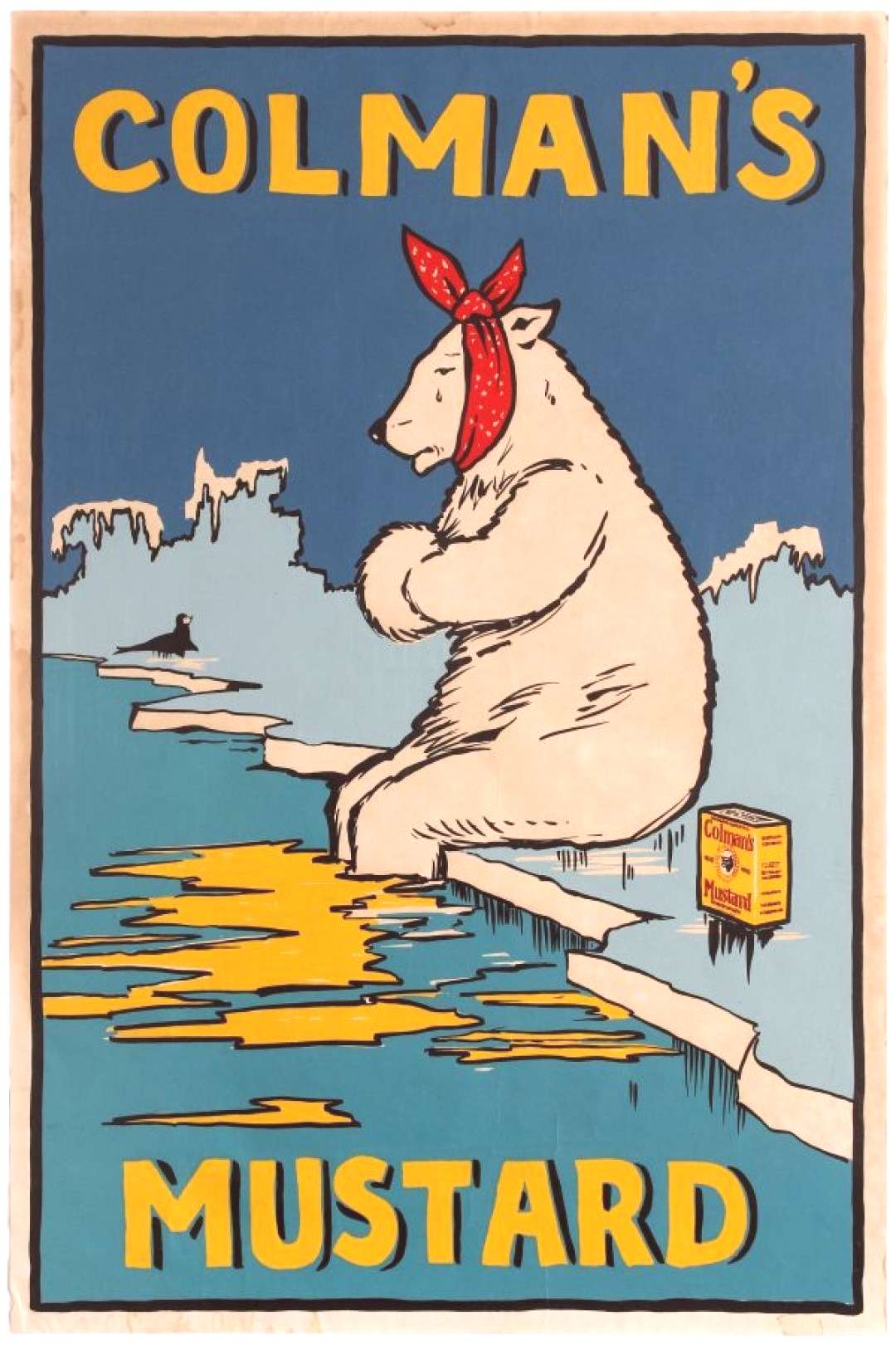 Colman's Mustard Polar Bear UK / 1920s / Advertising Posters / 72.5x48 Original vintage advertising