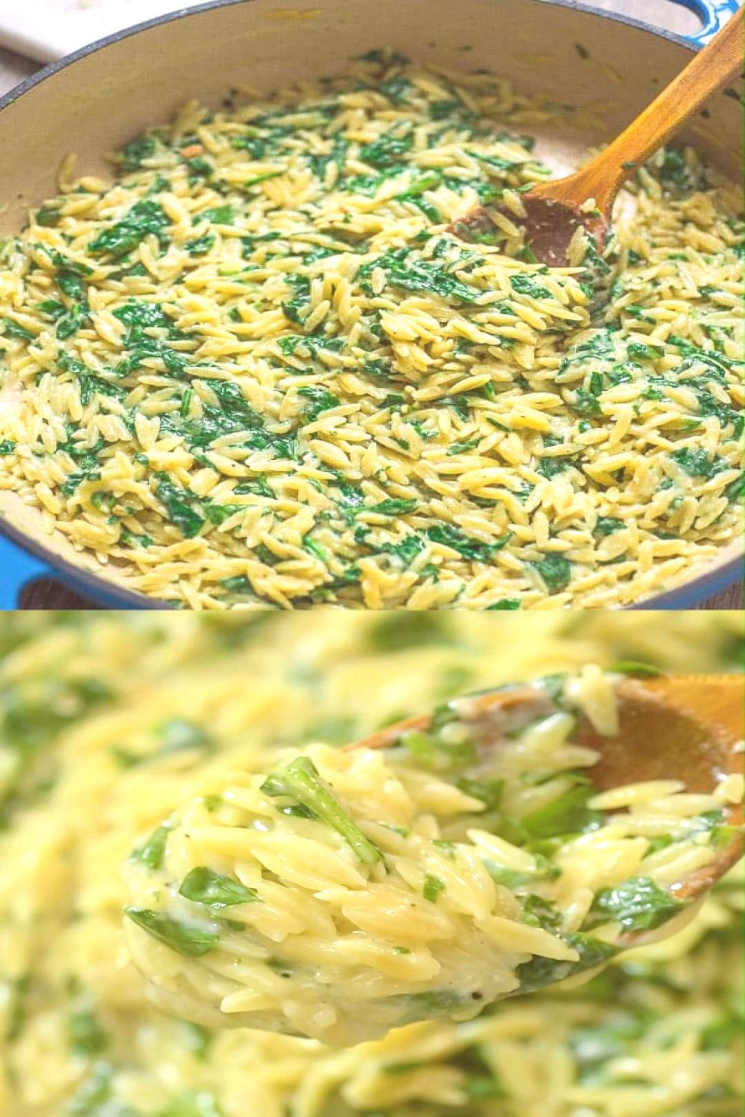 Creamy Spinach Orzo This Spinach Orzo is one of the easiest and tastiest meals I've ever made. Se