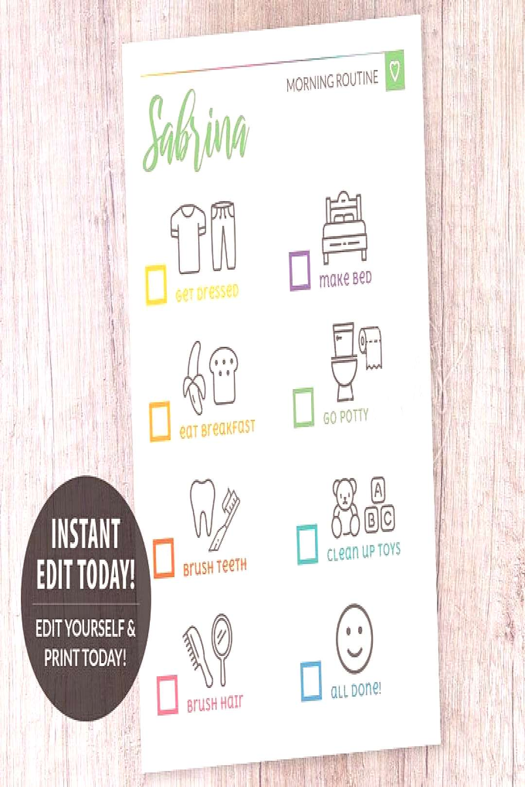 Daily Routine Planner Printable Flylady Morning Routine | Etsy