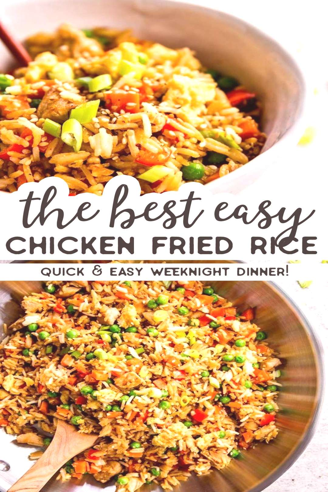 Easy Chicken Fried Rice Easy Chicken Fried Rice is a quick and simple dinner you can make any night