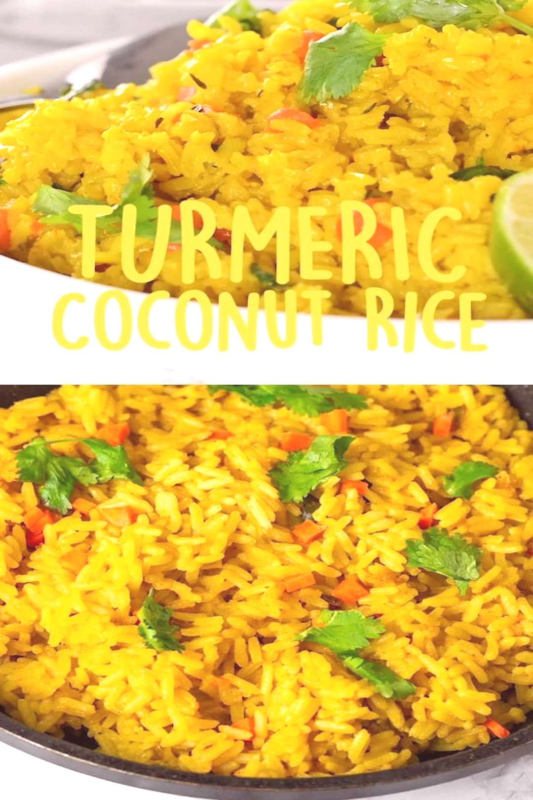 Enjoy this delicious and healthy Turmeric Coconut Rice for your next meal. Brown rice simmered in s