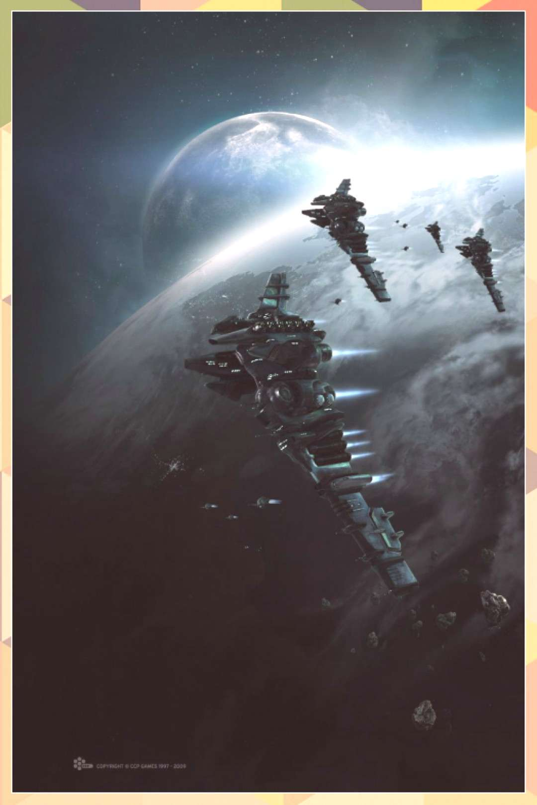 Eve Online Myrmidon-class battlecruisers. I wish they would fit her to be a bett... of animation ar