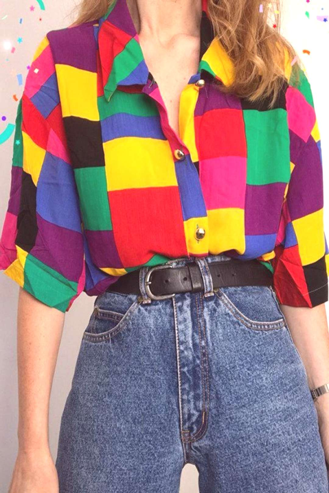 Fashion Old Fashion Geometric patterns Coloring Long Sleeve Shirt -