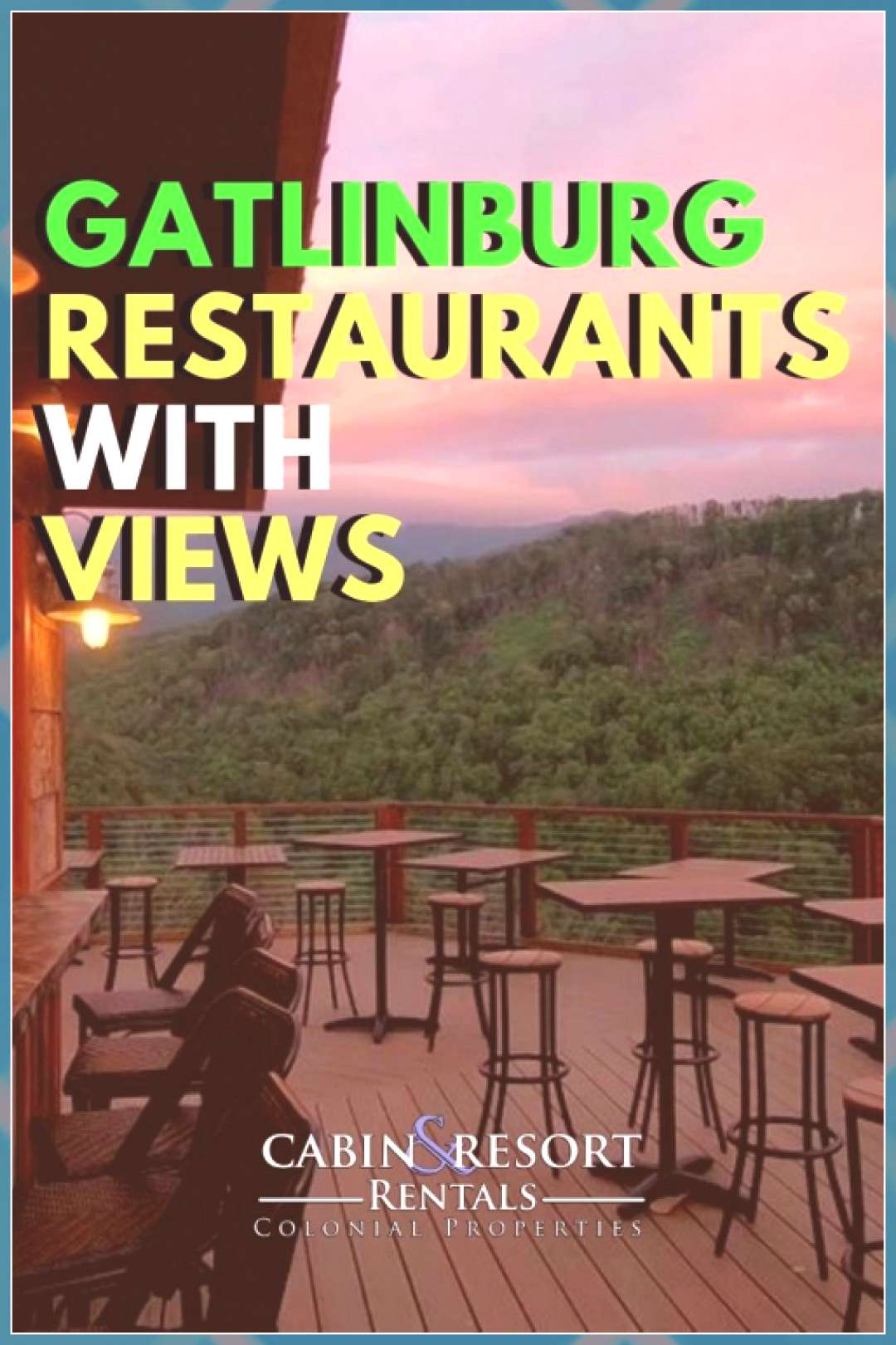 Gatlinburg Restaurants with the Best Views cruise travel travel cove travel teton national smoky mo