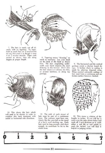Hair Design -- Waving, Shaping and Curl Patterns for 1950s