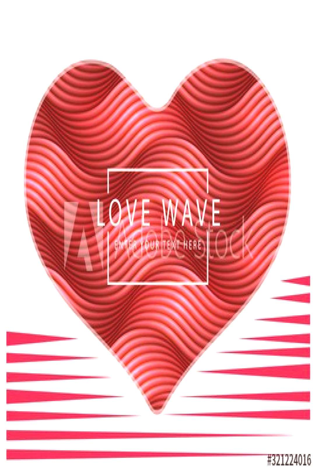 Happy Valentine's Day 1bstract retro red heart shape wave line. ,