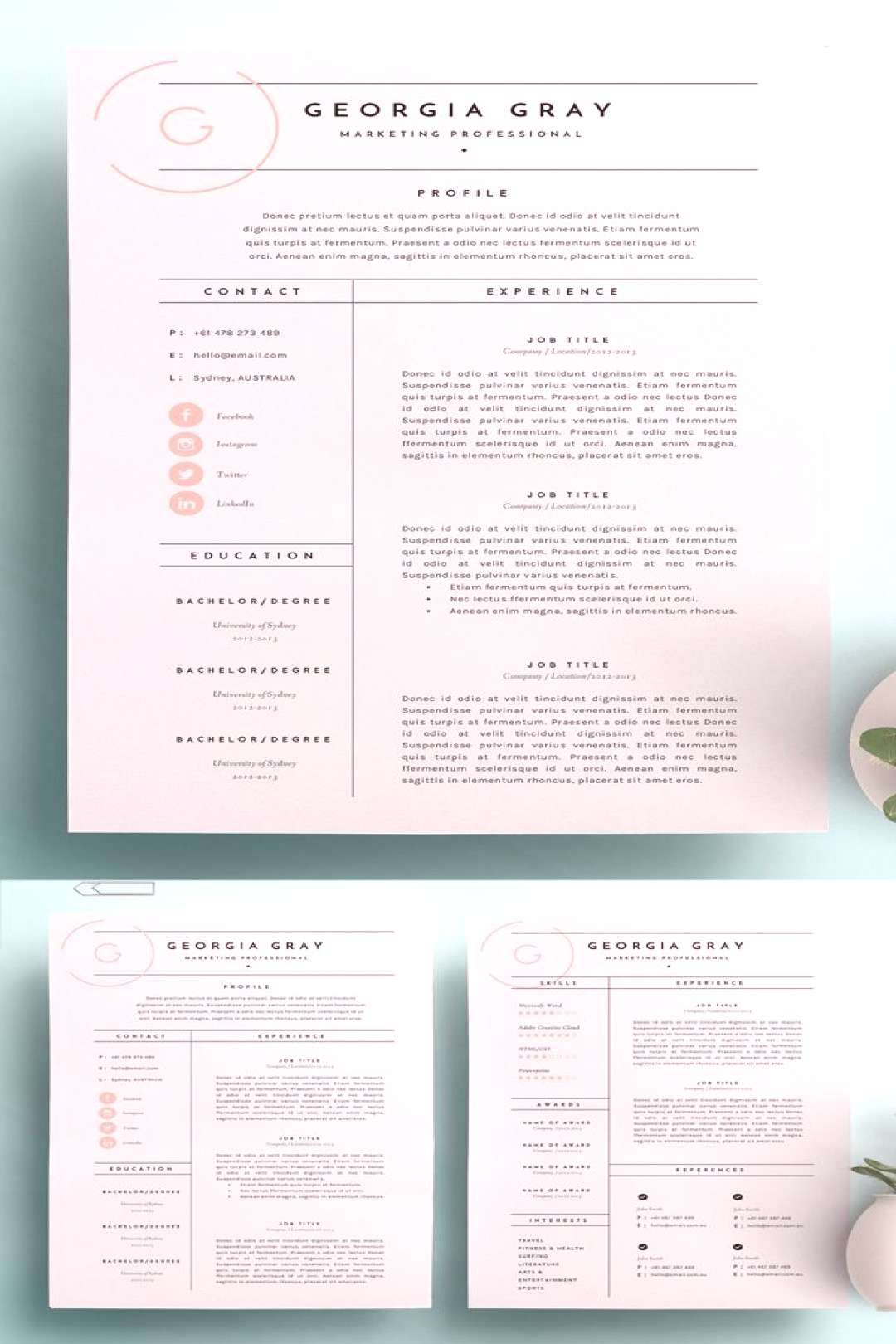 High Quality Resume Template. resume template for word, resume idea, pretty resume, work resume, re
