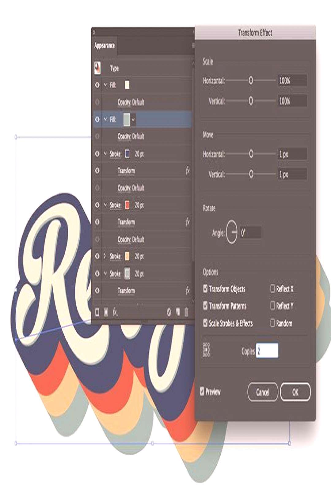 How To Create a Retro 70s Style Striped Logo Type Effect -  How To Create a Retro 70s Style Striped