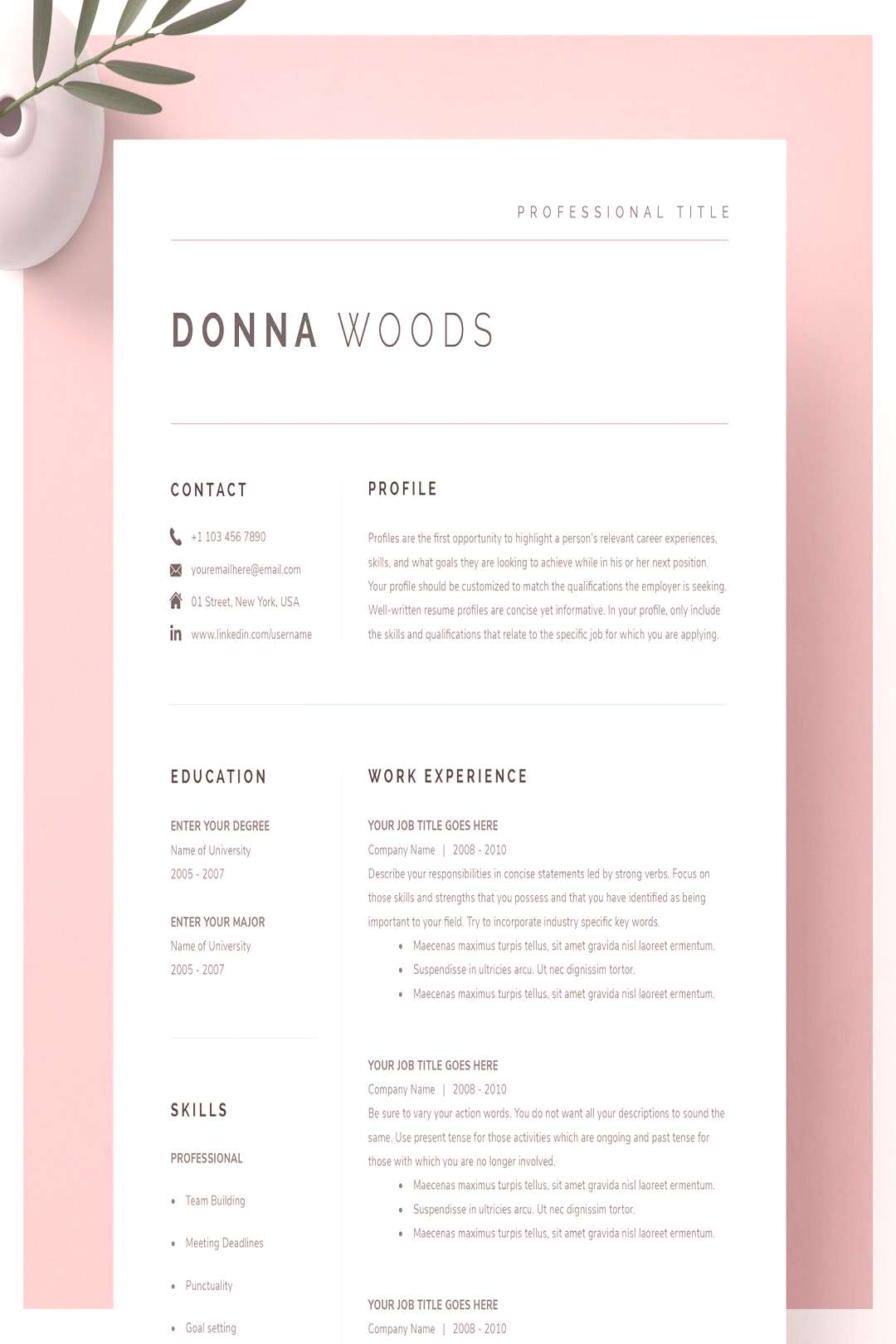 If you like this design. Check others on my CV template board :) Thanks for sharing!