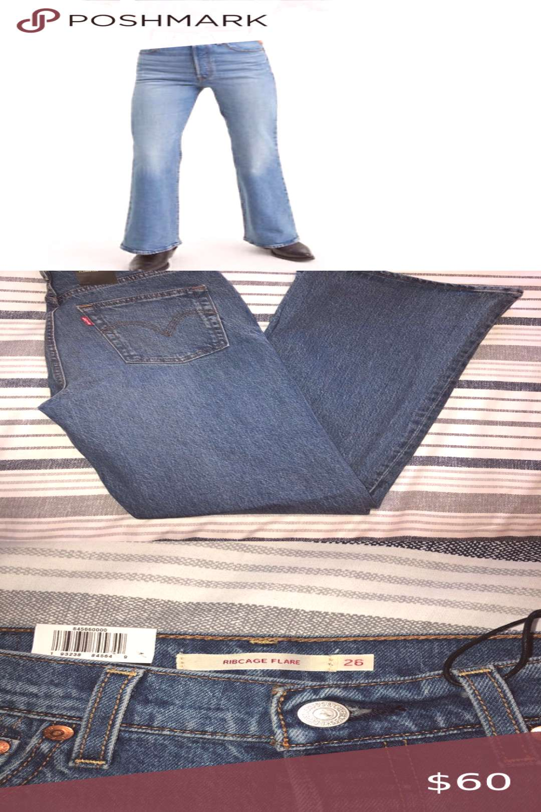 Levi flare jeans Levi ribcage flare in retro style blue. Super cute and in style... Levi flare jean