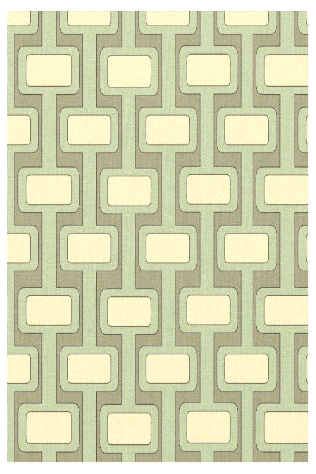 Lock n' Key Lime Fabric Crazy about those retro patterns. 60s and 70s wallpaper isn't it the best?