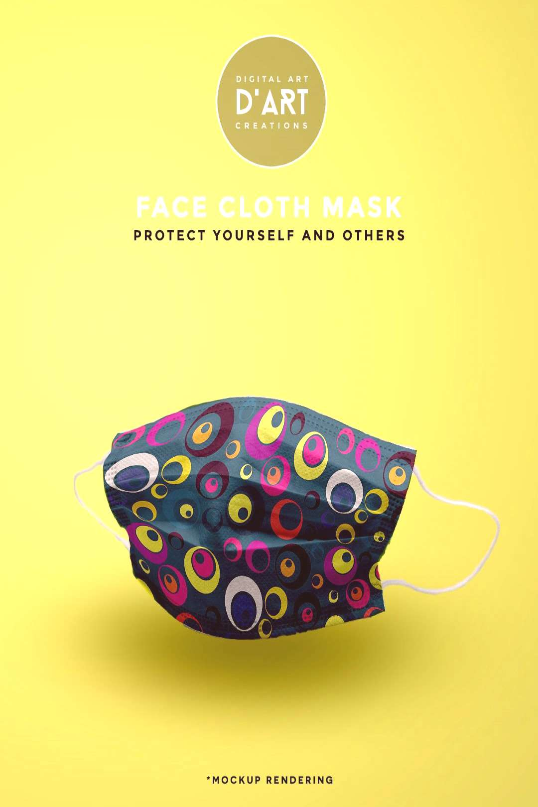 Looks Funky Cool, stylish and funky circles pattern. Wear a mask, protect yourself and others...