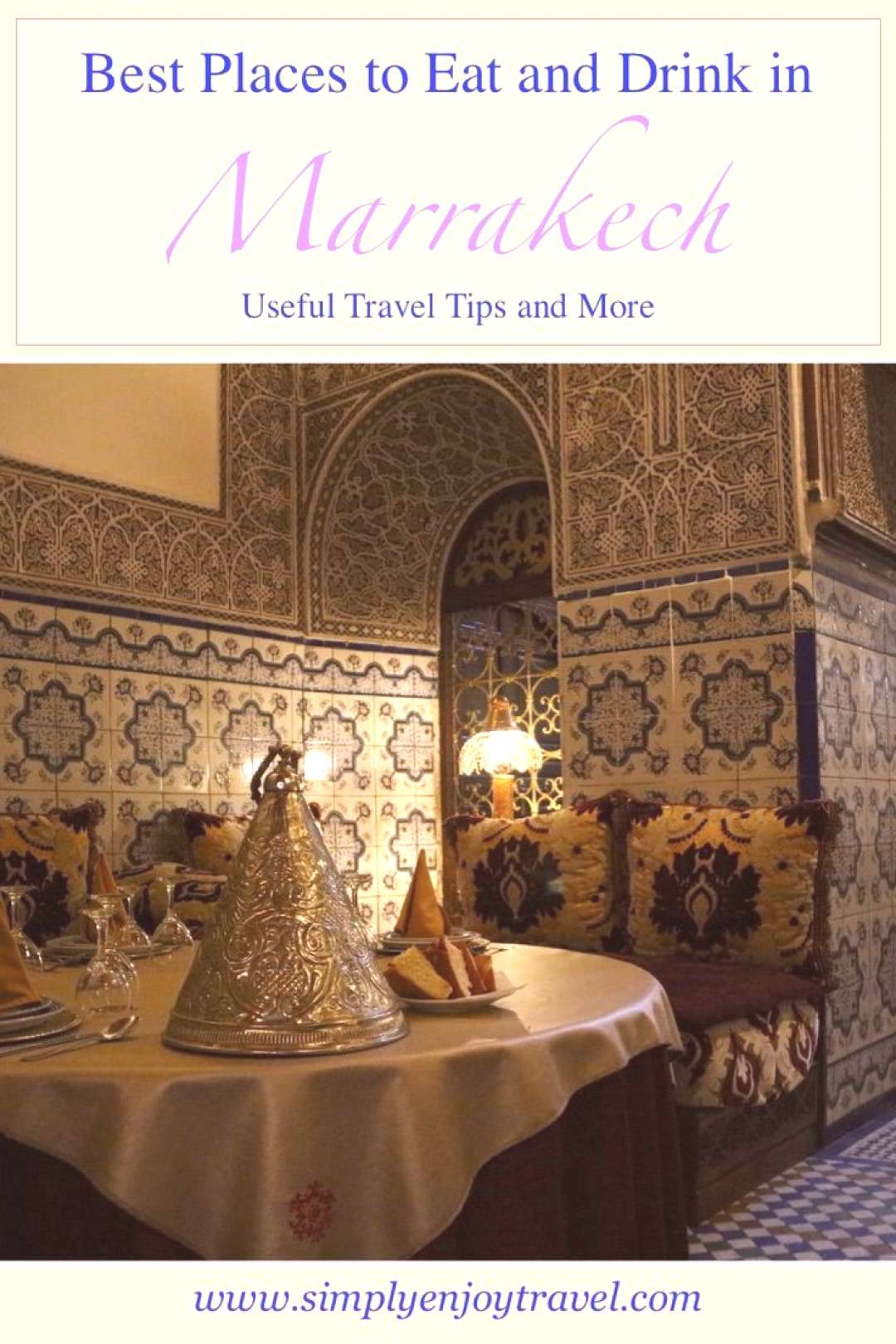 Marrakech, MOROCCO Are you travelling to Marrakech, Morocco? Here are some of the best Moroccan res