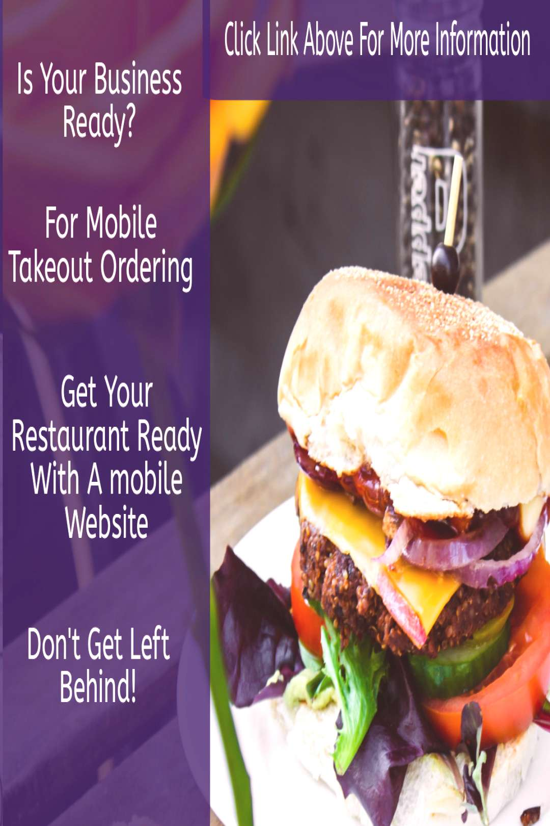 Mobile Food Ordering Get your restaurant ready for the mobile food ordering revolution. Most local