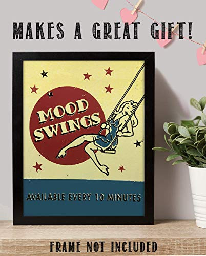 quotMood Swings-Available Every 10 Minsquot- Funny, Vintage