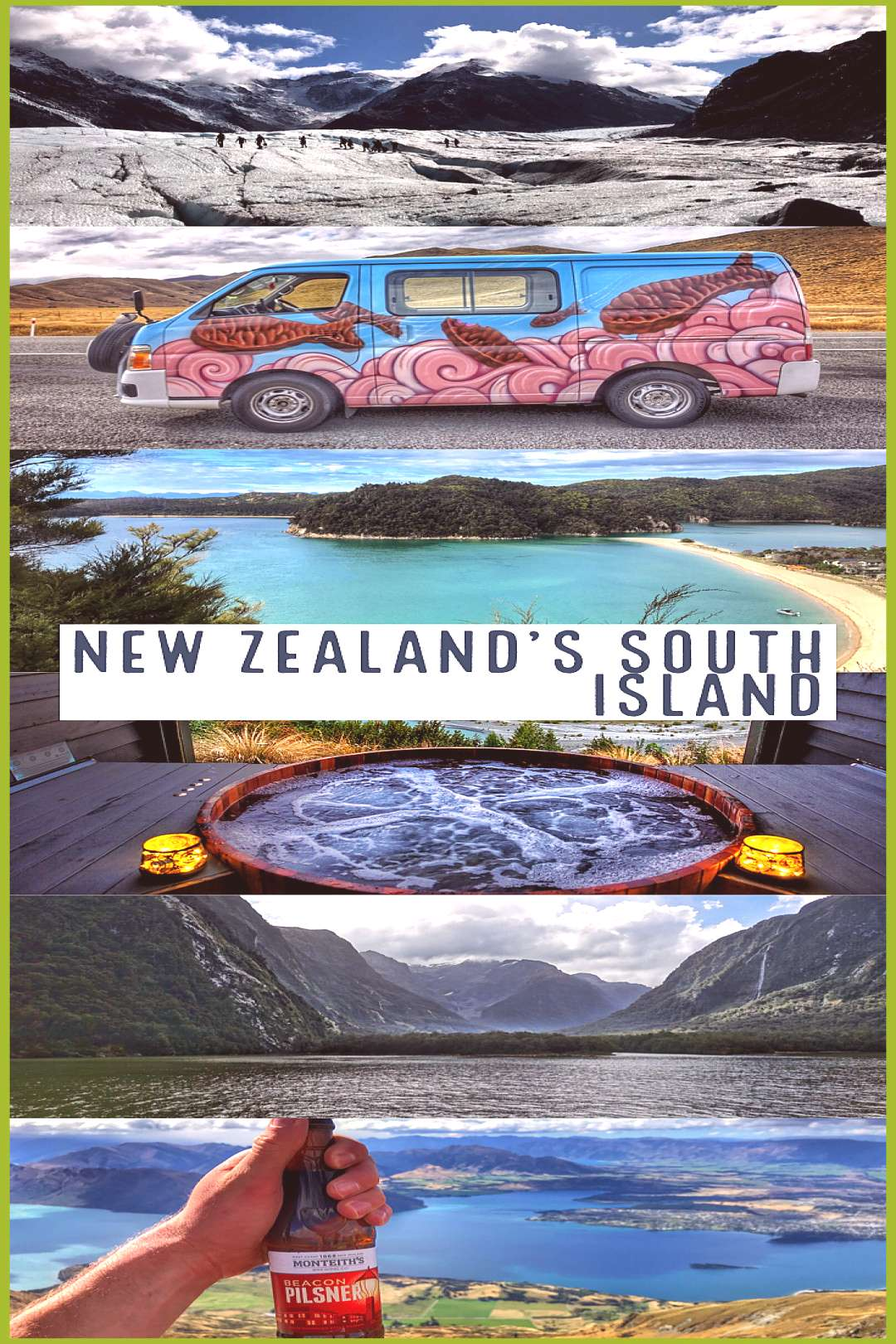 New Zealand South Island Road Trip Itinerary for 16 days including the best things to do restaurant