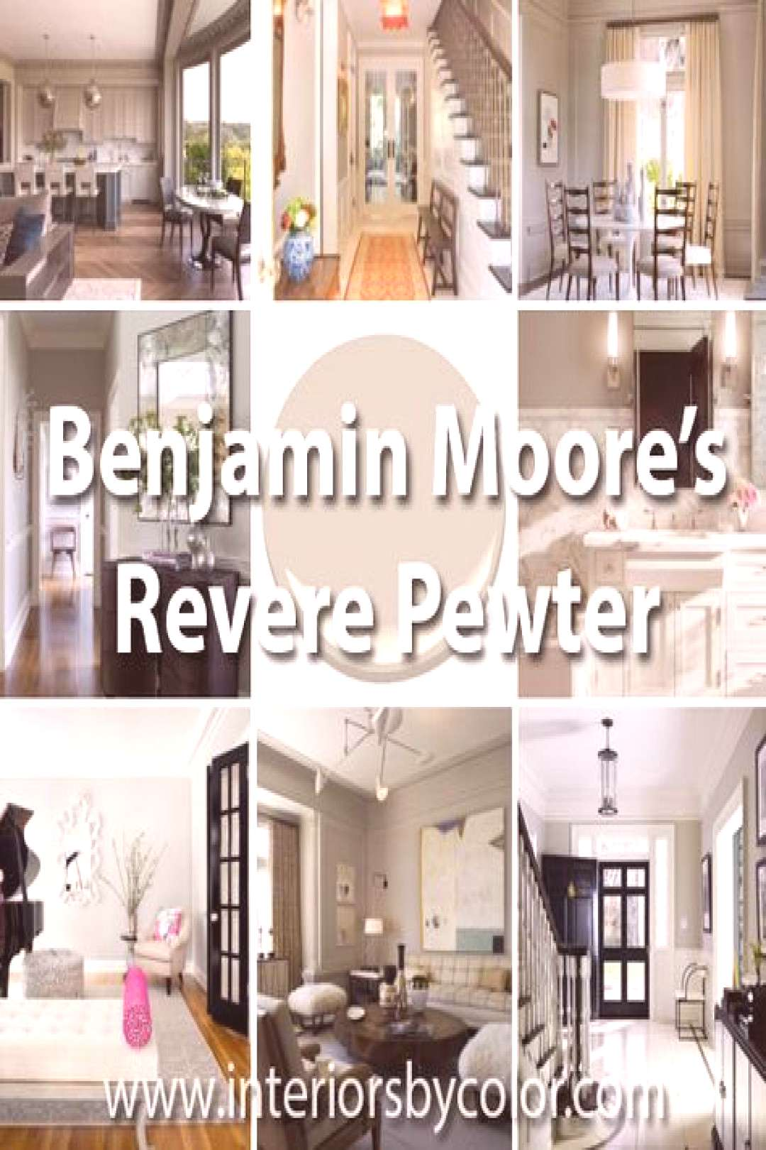 One of the most popular gray paint colors world wide; Benjamin Moore Revere Pewter is described by
