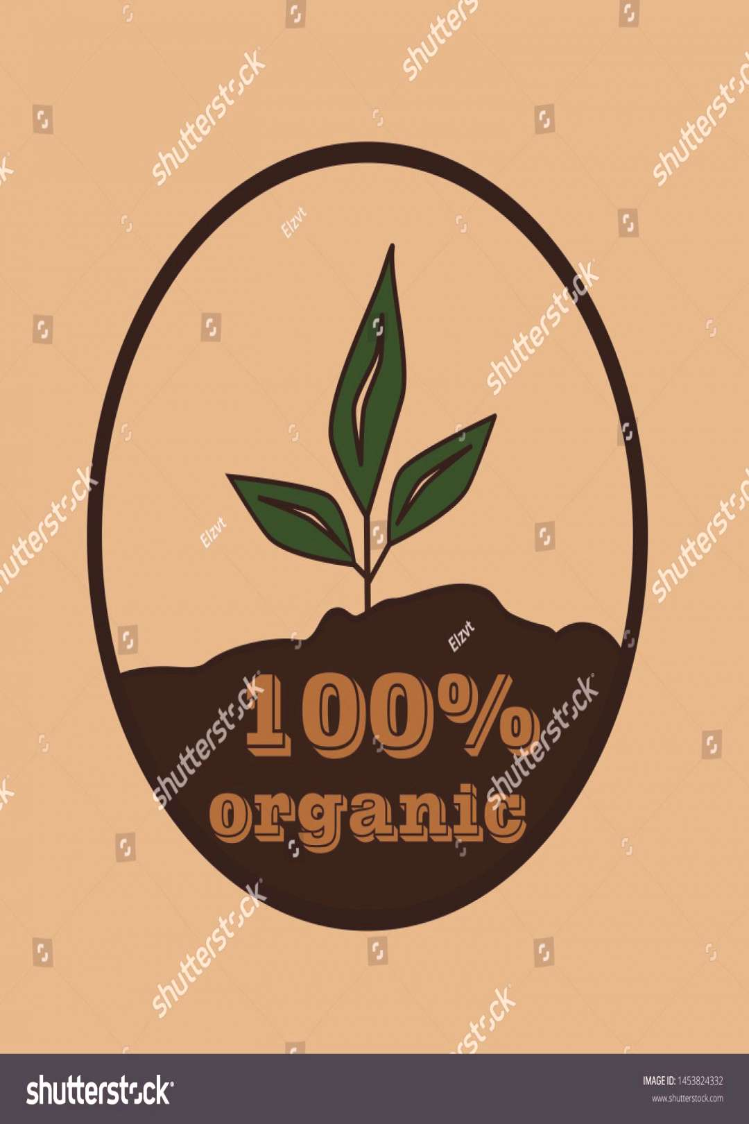 Organic food label for food and drink, restaurants and organic products vector illustration.flat ic