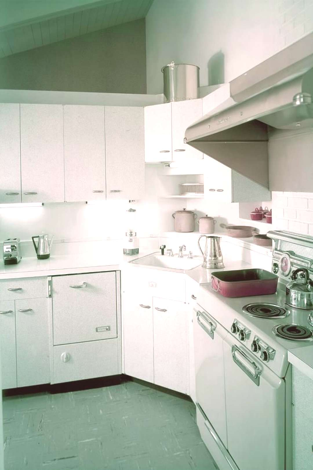 Photograph - A Retro Kitchen by Haanel Cassidy ,