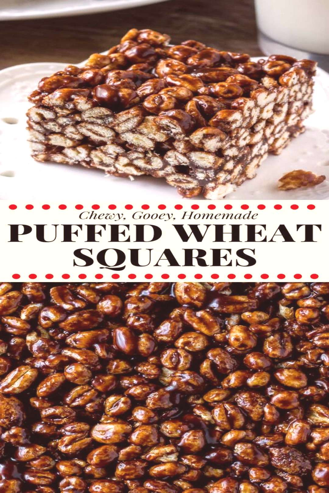 Puffed wheat squares are a classic, easy treat that always reminds me of childhood. They're chewy,