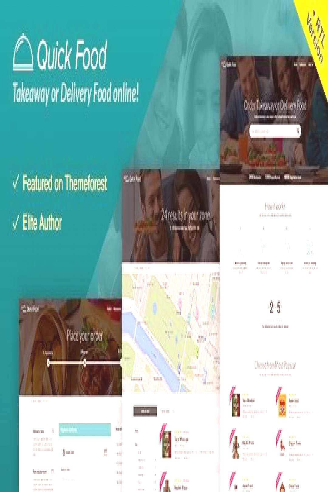 QuickFood - Delivery or Takeaway Food Template  ⠀  QuickFood is an HTML5 site template for Delive