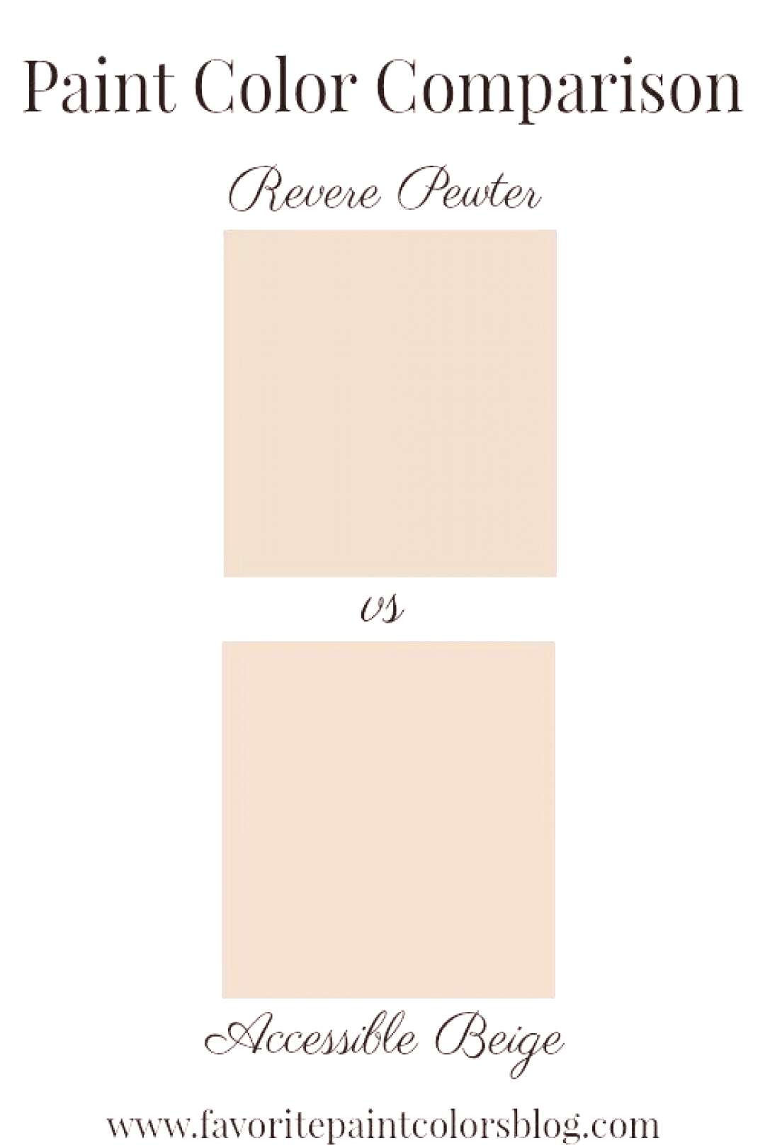 Reader's Question: Revere Pewter or Accessible Beige - Favorite Paint Colors Blog