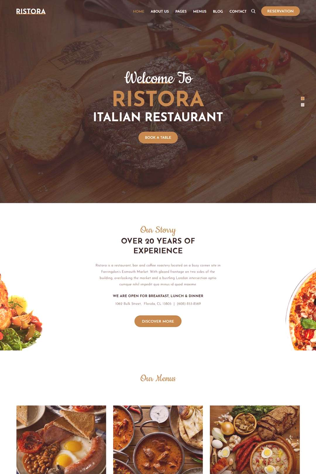 Restaurant & Food WordPress Theme - RS Theme is a creative, unique & clean & This theme is perfect
