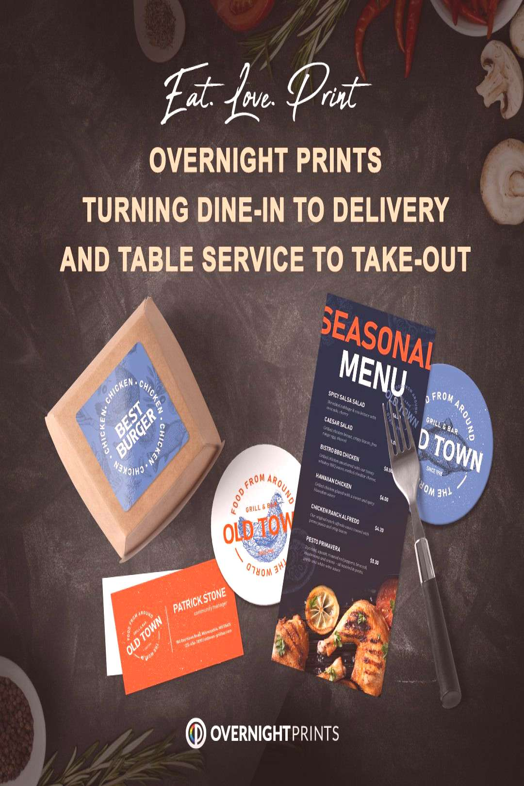 Restaurant Printing  Who are your favorite restaurants that have switched to take-out or delivery?