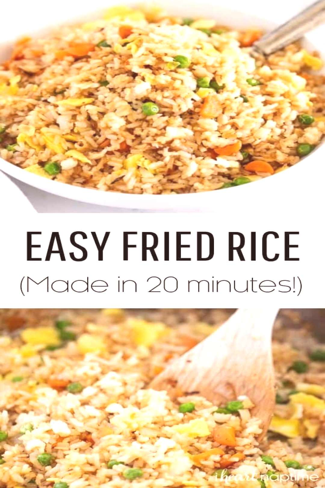 Restaurant style fried rice you can make at home in 20 minutes! The perfect way to use up leftover