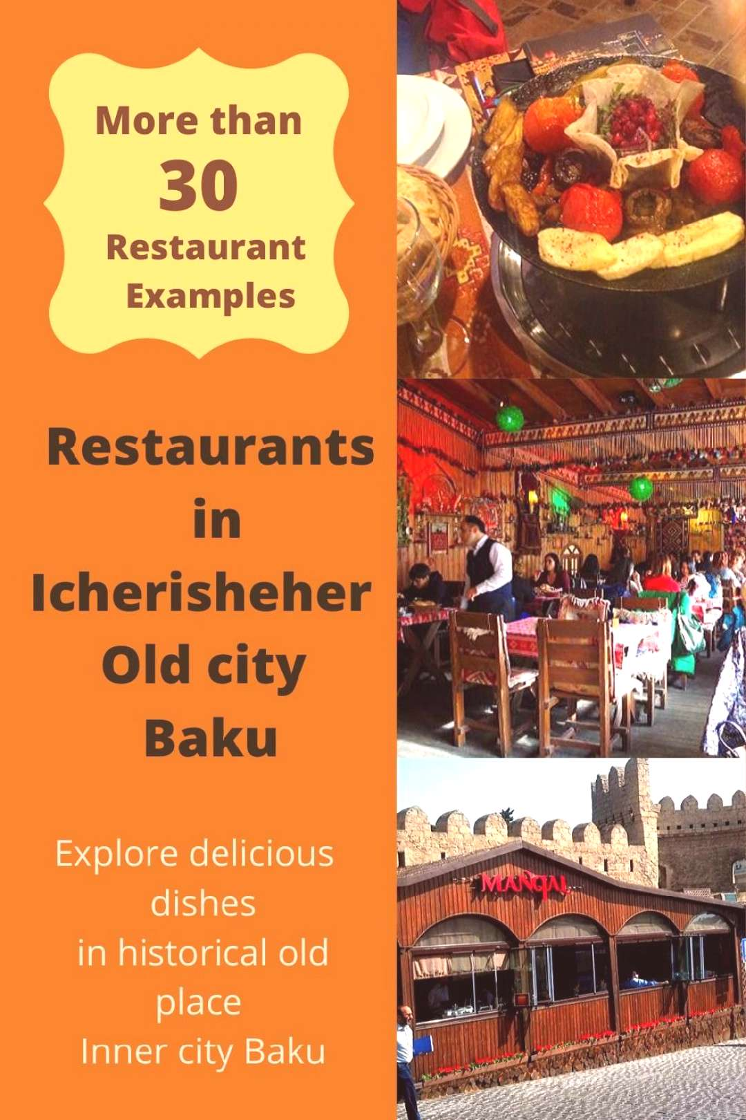 Restaurants in Old city Baku Azerbaijan Here are the most famous restaurants and cafes in Icheris