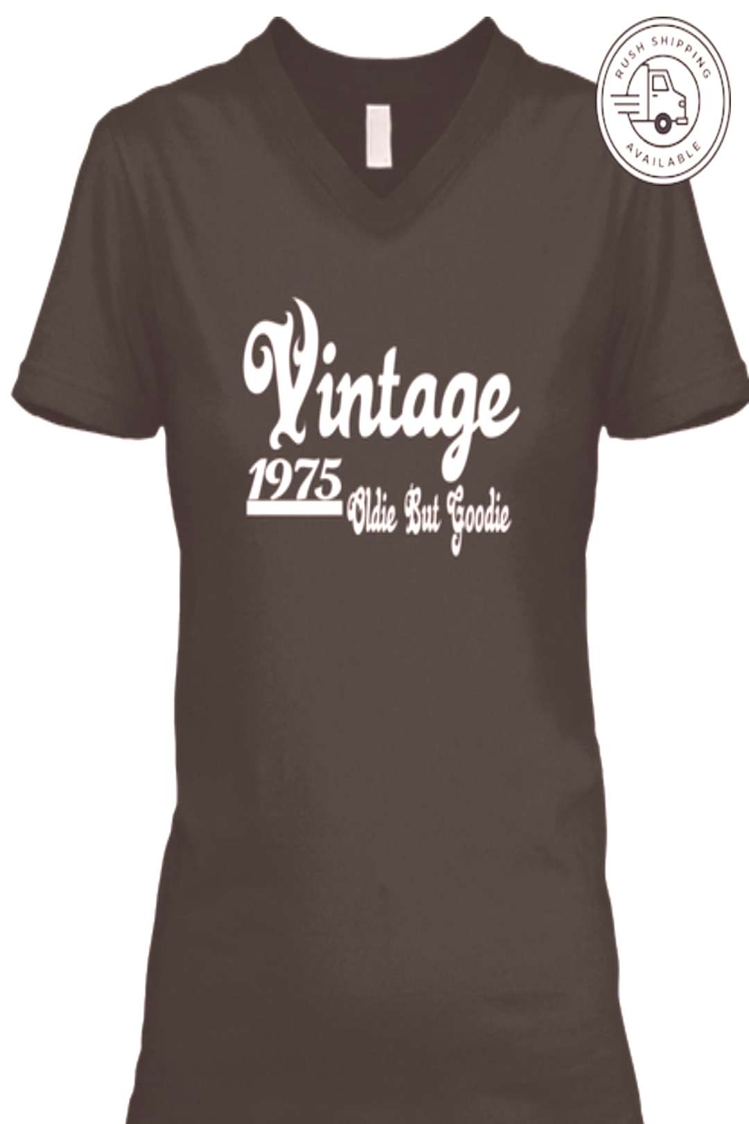 Retro Birthday 1975 Vintage Oldie But Goodie Ladies Tshirt  In Stock! Cute Retro Birthday 1975 Vint