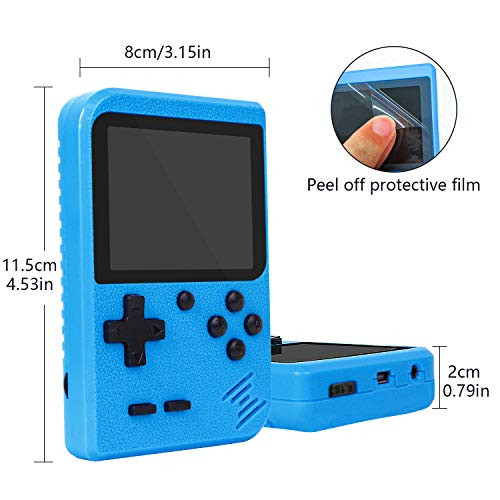 Retro Handheld Game Console with Protector Case, 400 Free