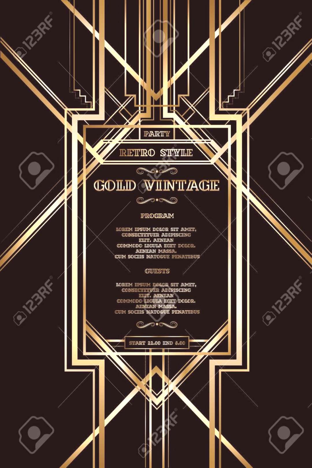 Retro pattern for vintage party Gatsby style. ,