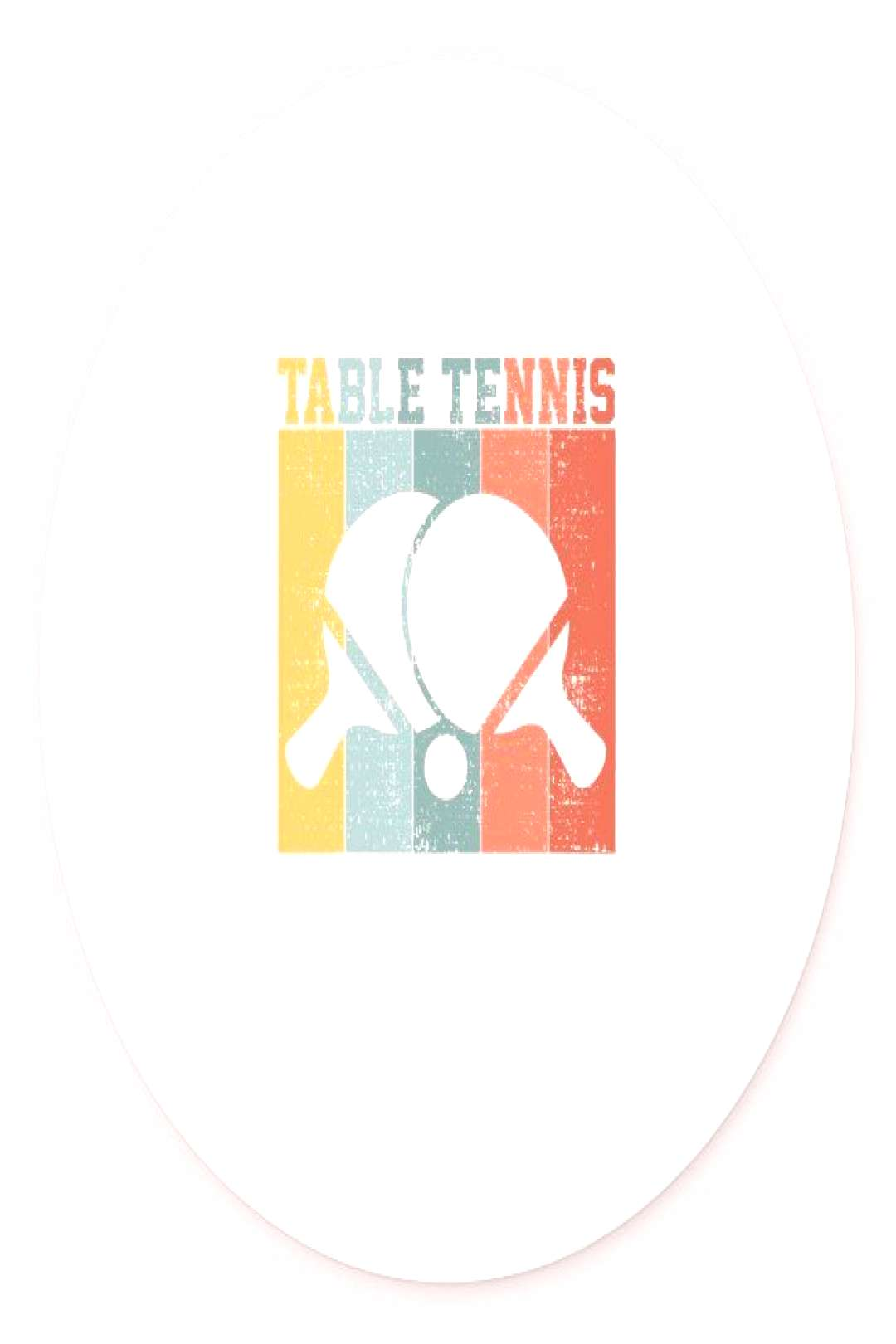 Retro Table Tennis T-Shirt Ping Pong Gift Tee Tshi Classic Round Sticker