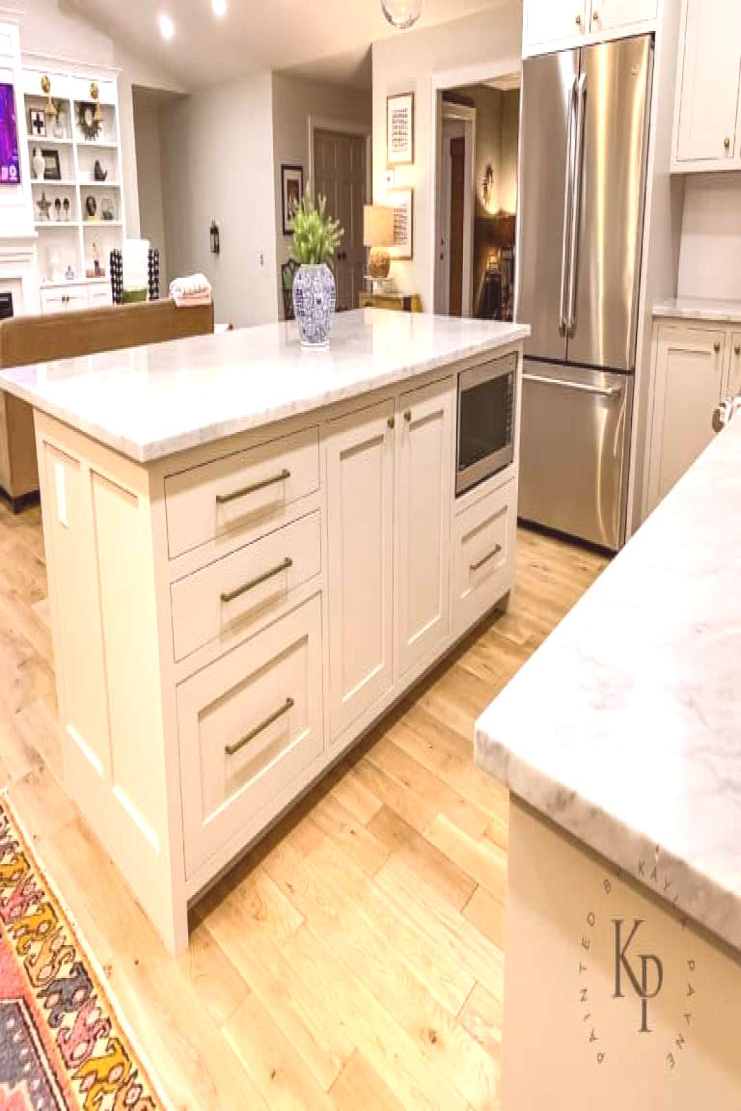 Revere Pewter Kitchen Cabinets - Painted by Kayla Payne#cabinets
