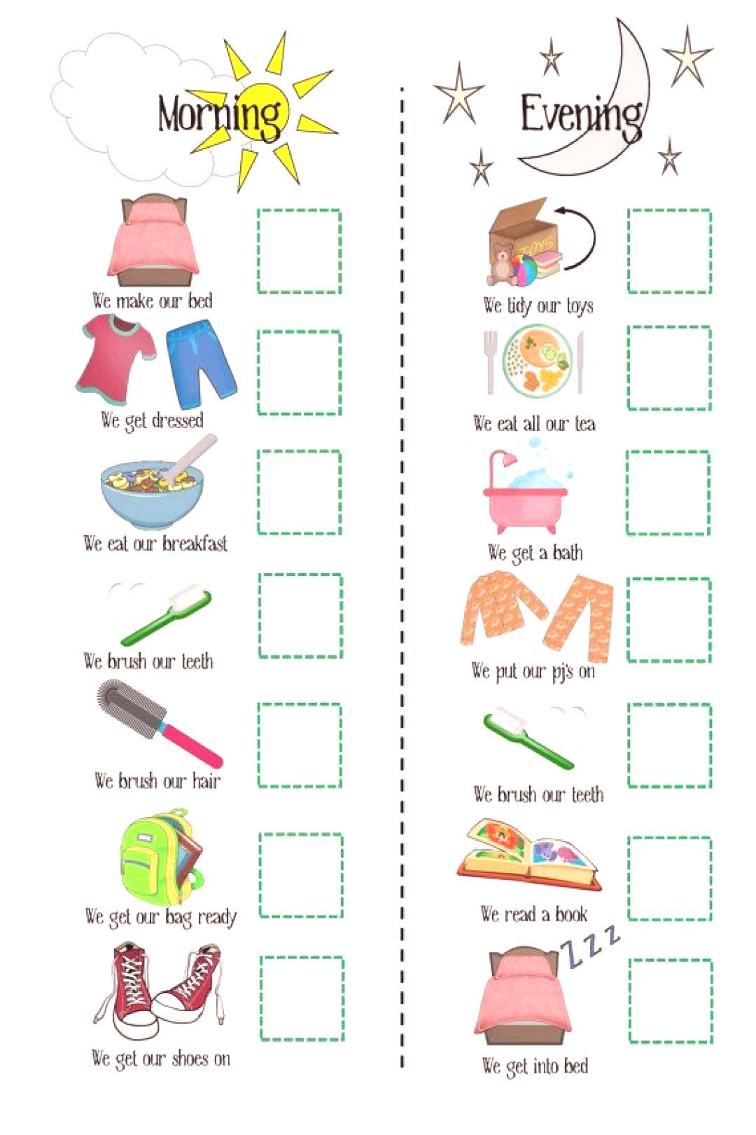 SALE Girls Routine Printable Boys routine by OliHarriCreations  Numerous options of reward charts,