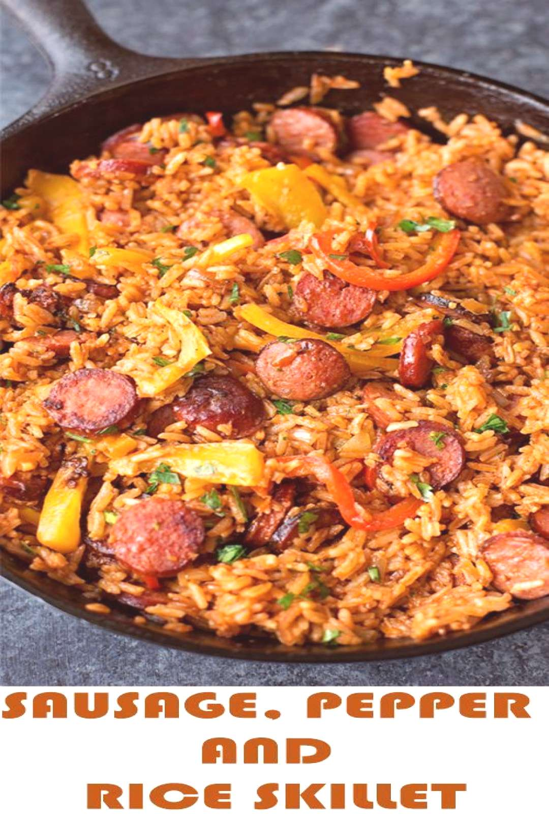 Smoky kielbasa sizzled with sweet bell pepper, onions and garlic in vibrant toma... Sausage Recipes