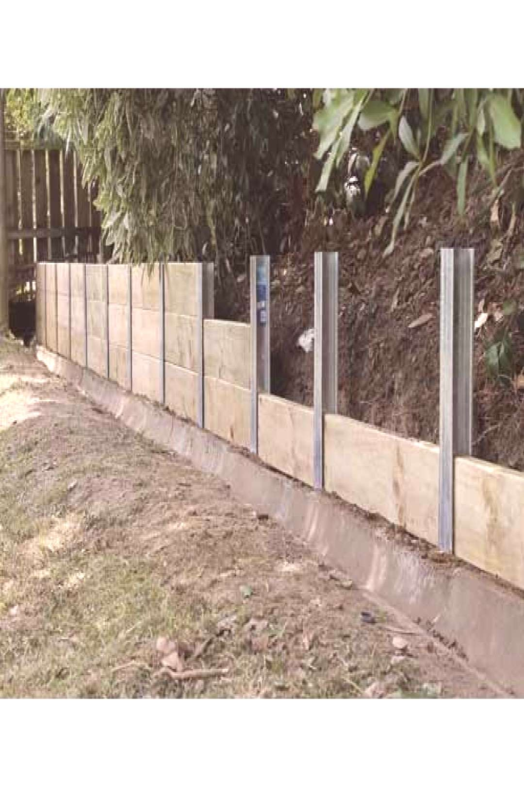 Surewall Retaining Wall Joiner Post Galvanised